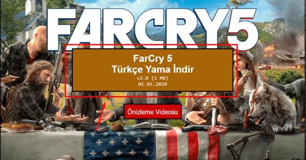 Far Cry 5 Turkce Yama