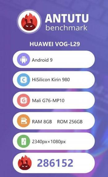 Huawei p30 pro antutu
