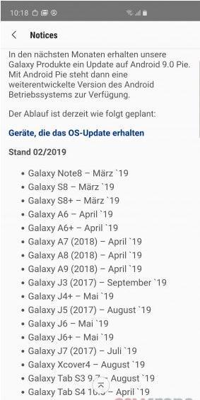 Samsung Galaxy A9 (2018) guncelleme