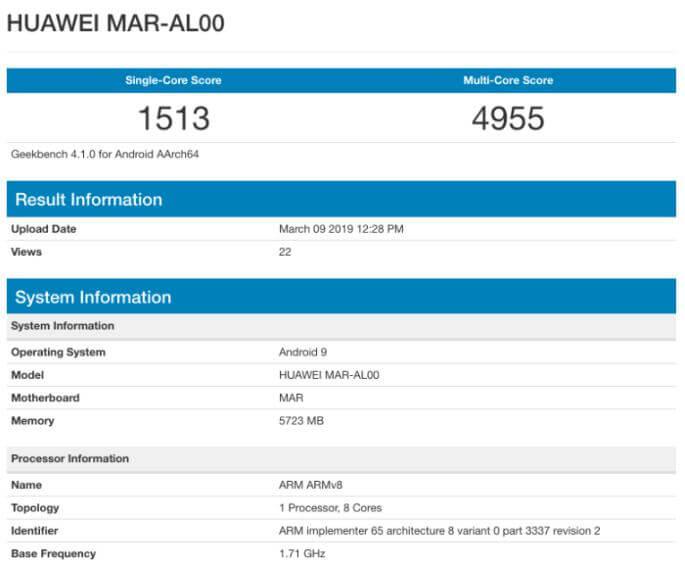 Huawei Nova 4e Geekbench'te Görüntülendi!