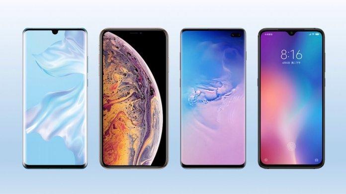 Huawei P30 ProvsSamsung Galaxy S10 PlusvsApple iPhone XS MaxvsXiaomi Mi 9