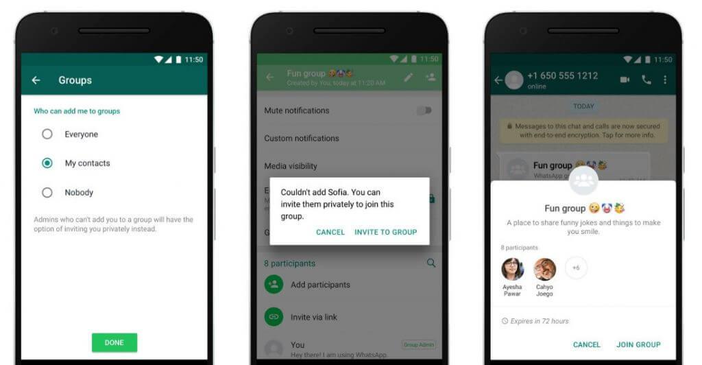 WhatsApp Gruplar İçin Yeni Gizlilik Kuralları Ekliyor!