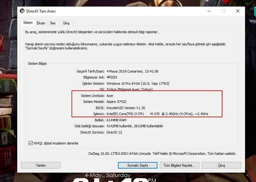 Bilgisayarım Hangi Anakartı Kullanıyor?