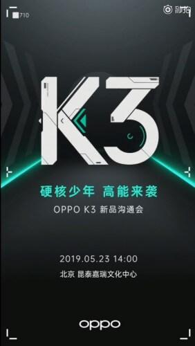 Oppo K3 23 Mayıs'ta Tanıtılabilir! İşte Detaylar