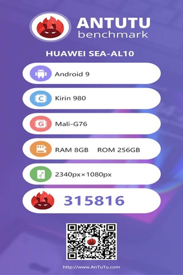 Huawei Nova 5 Pro Antutu Sonuçları Yayınlandı!
