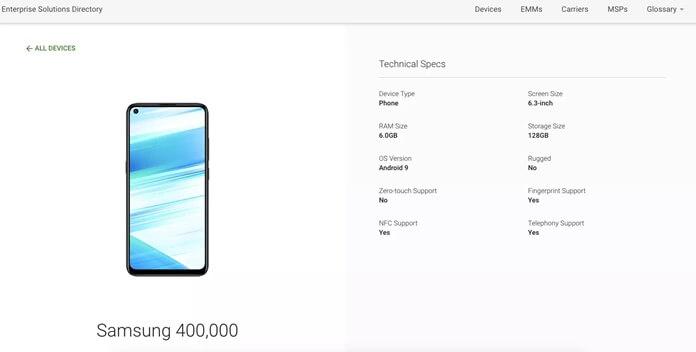 Samsung Galaxy M40 Özellikleri Netleşiyor!
