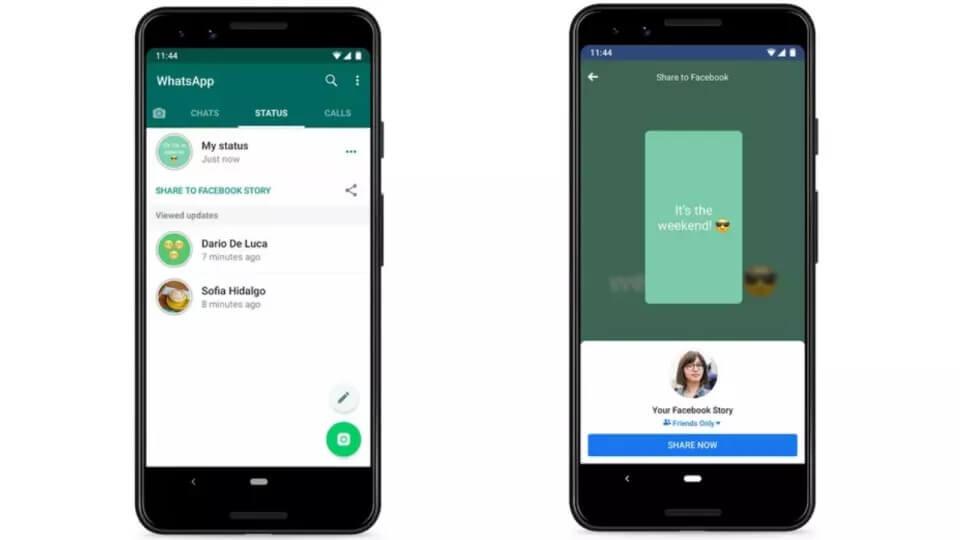 WhatsApp Durumları Facebook Hikayelerine Eklenebilecek!