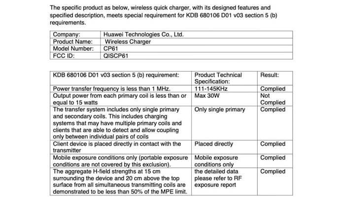 Huawei 30W Kablosuz Şarj Üzerinde Çalışıyor!