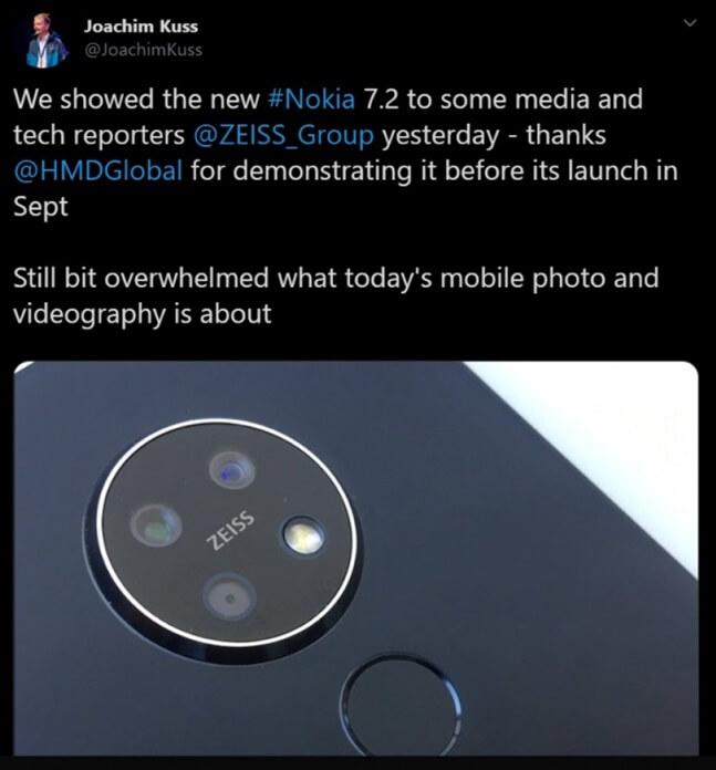 Nokia 7.2 Yuvarlak Kamera Kurulumu ile Geliyor!