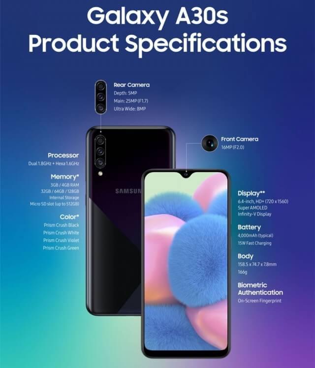 Samsung Galaxy A50s ve Galaxy A30s Tanıtıldı - Fiyatı ve Özellikleri