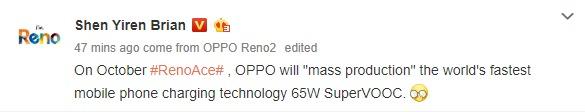 Oppo Reno Ace Hangi Şarj Desteğini Taşıyacak?