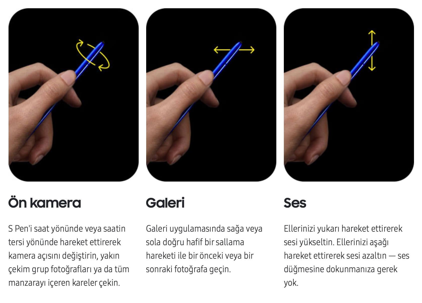 Samsung Galaxy Note 10+ (Plus) S Pen Ozellikleri