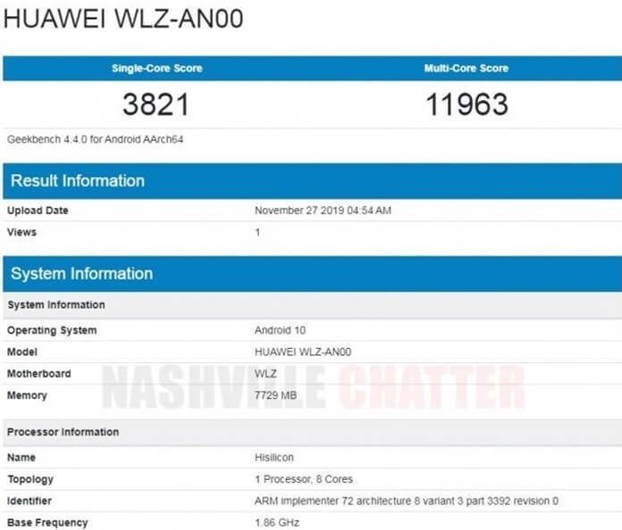 Huawei Nova 6 5G Geekbenchte Görüntülendi!