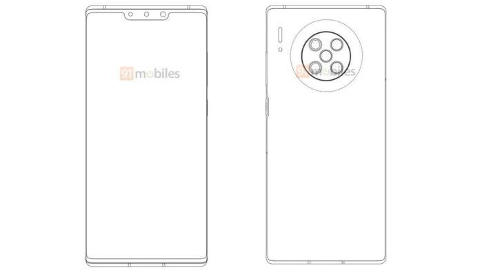 Huawei P40 patent