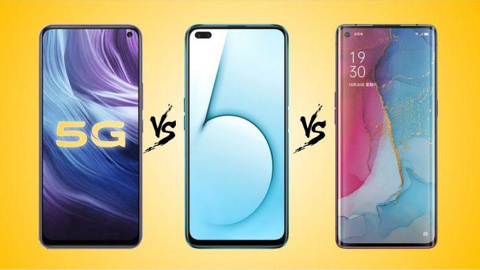 Vivo Z6 5G vs Realme X50 5G vs Oppo Reno 3 5G Karşılaştırma
