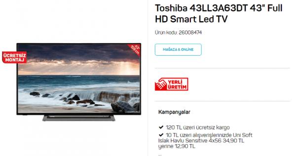 Toshiba 43LL3A63DT Smart Led TV