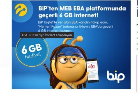 EBA bedava internet alma