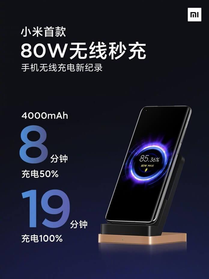 Xiaomi 80W Kablosuz Şarj ile 19 Dakikada Batarya Doldurmak Mümkün