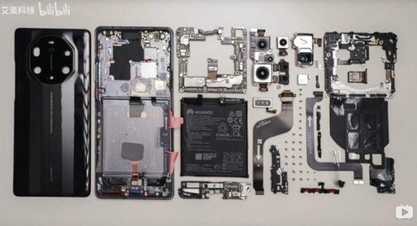Huawei Mate 40 RS Parçalara Ayrıldı - İşte İç Donanımı