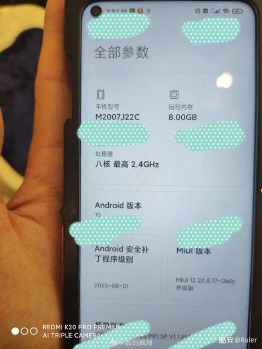 Redmi Note 9 5G Ekran Özellikleri Ortaya Çıktı
