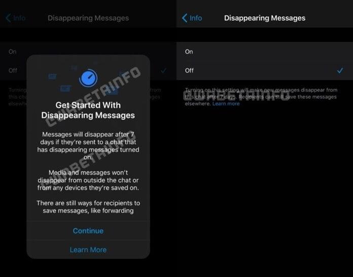 WhatsApp Geçiçi Mesaj Özelliği Artık Yayında Sayılır