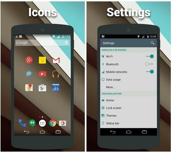 Android 5.0 teması Play üzerinde yayınlandı.