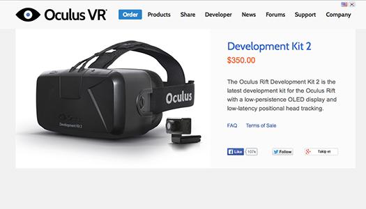 Oculus Rift DK2 Temmuz'da Satışa Sunulacak!