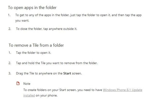 Windows Phone İçin iOS Benzeri Klasörleme Geliyor