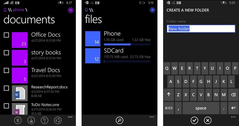 Windows Phone Dosya Yöneticisi Geliyor