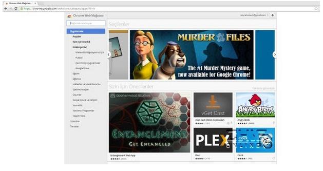Chrome Eklentilerini Web Mağazasına Taşıyor