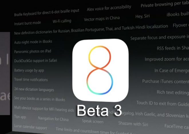 iOS 8 Beta 3 geliştiriciler için yayınlandı, neler yeni?