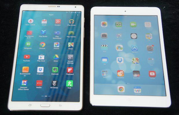 Galaxy Tab S'in ekranı büyük beğeni topluyor