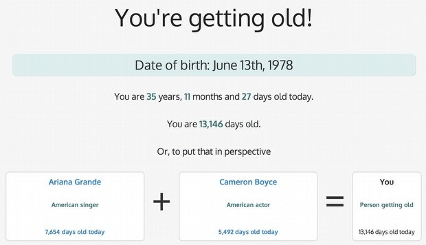 Gün Geçtikçe Yaşlanıyormuyuz?